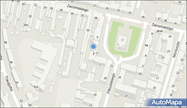 Radom, Plac Konstytucji 3 Maja, 3, mapa Radomia
