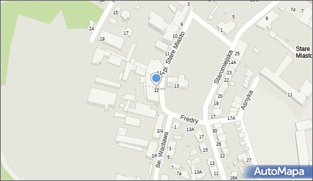Radom, Plac Stare Miasto, 12, mapa Radomia