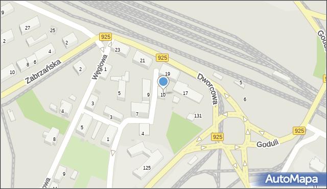 Ruda Śląska, Plac Szkolny, 10, mapa Rudy Śląskiej