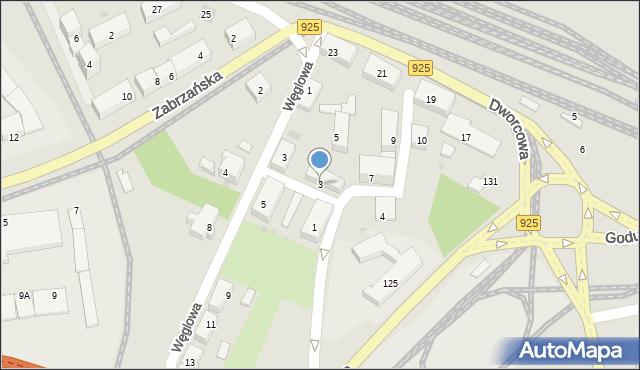 Ruda Śląska, Plac Szkolny, 3, mapa Rudy Śląskiej