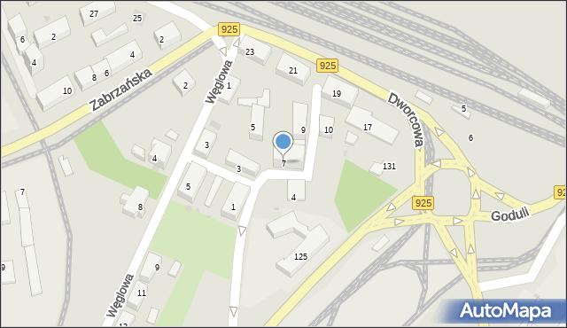 Ruda Śląska, Plac Szkolny, 7, mapa Rudy Śląskiej