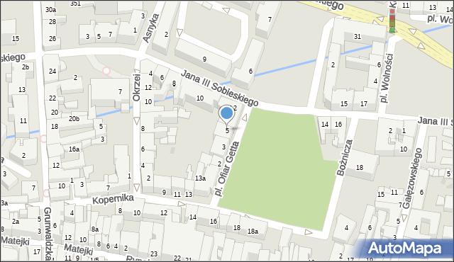 Rzeszów, Plac Ofiar Getta, 5, mapa Rzeszów