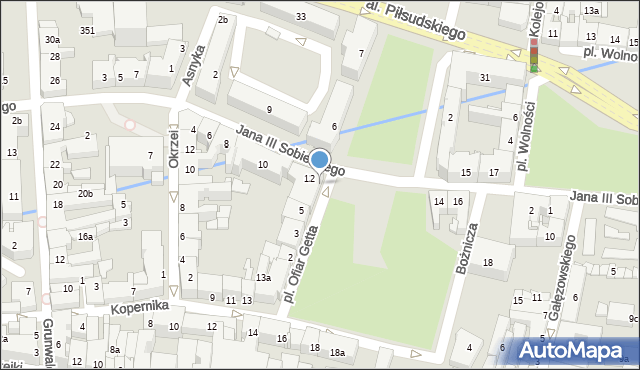 Rzeszów, Plac Ofiar Getta, 5a, mapa Rzeszów