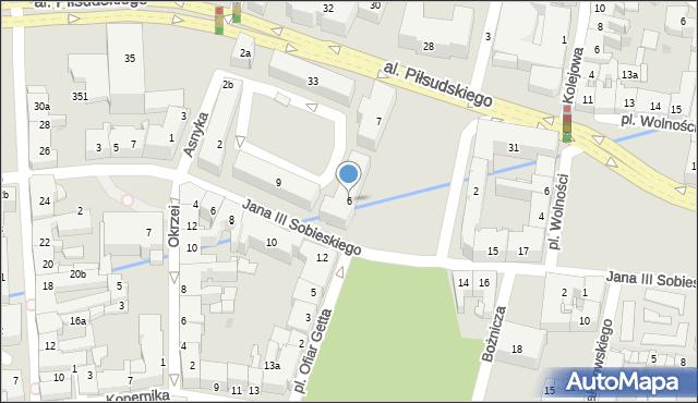 Rzeszów, Plac Ofiar Getta, 6, mapa Rzeszów