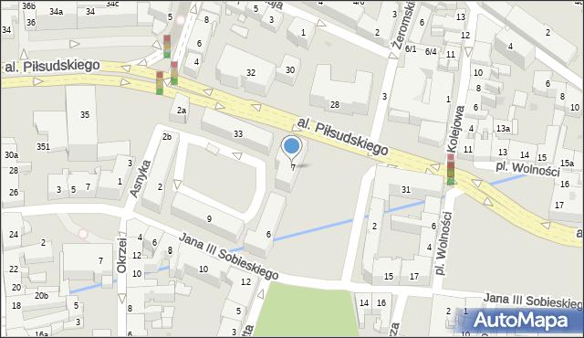 Rzeszów, Plac Ofiar Getta, 7, mapa Rzeszów