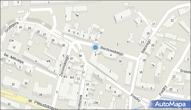 Rzeszów, Plac Kilińskiego Jana, płk., 1, mapa Rzeszów