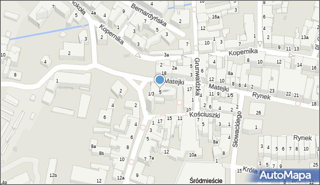 Rzeszów, Plac Farny, 5, mapa Rzeszów