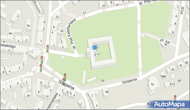 Rzeszów, Plac Śreniawitów, 3, mapa Rzeszów
