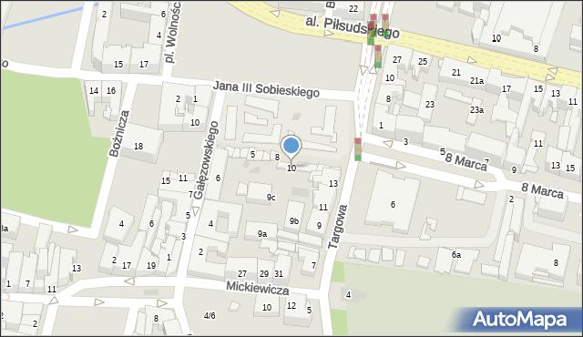 Rzeszów, Plac Wolności, 10, mapa Rzeszów