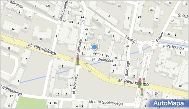 Rzeszów, Plac Wolności, 13, mapa Rzeszów