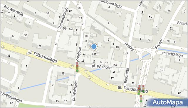 Rzeszów, Plac Wolności, 13a, mapa Rzeszów