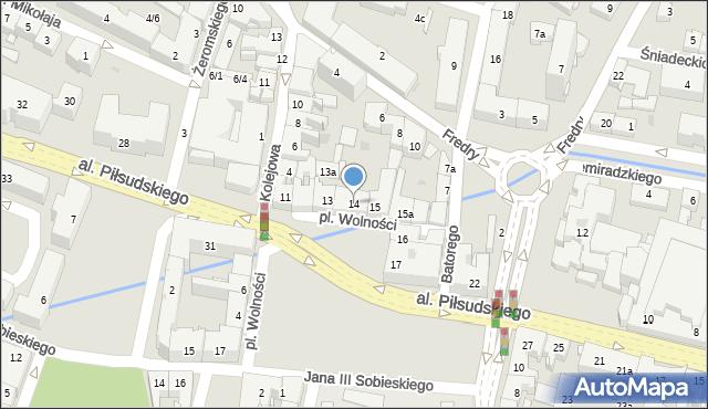 Rzeszów, Plac Wolności, 14, mapa Rzeszów