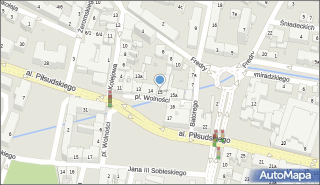 Rzeszów, Plac Wolności, 15, mapa Rzeszów