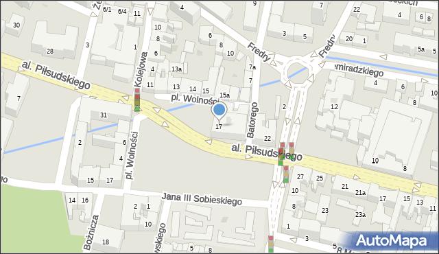 Rzeszów, Plac Wolności, 17, mapa Rzeszów