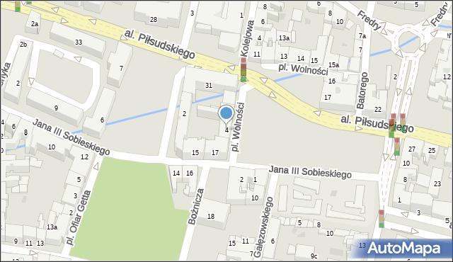Rzeszów, Plac Wolności, 4, mapa Rzeszów