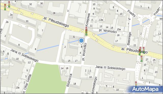 Rzeszów, Plac Wolności, 6, mapa Rzeszów