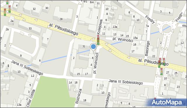 Rzeszów, Plac Wolności, 7, mapa Rzeszów
