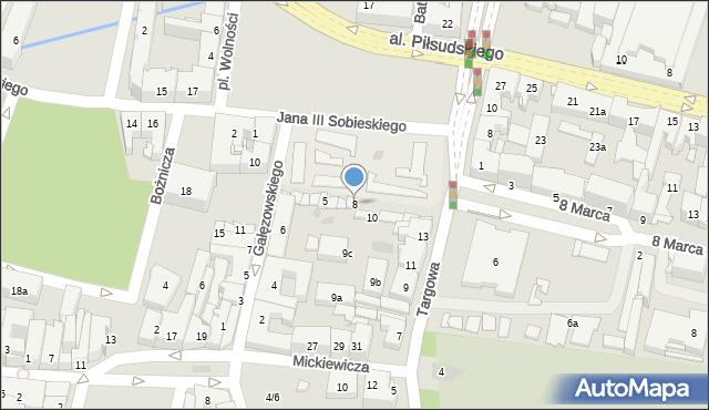 Rzeszów, Plac Wolności, 8, mapa Rzeszów