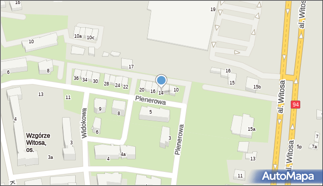 Rzeszów, Plenerowa, 14, mapa Rzeszów