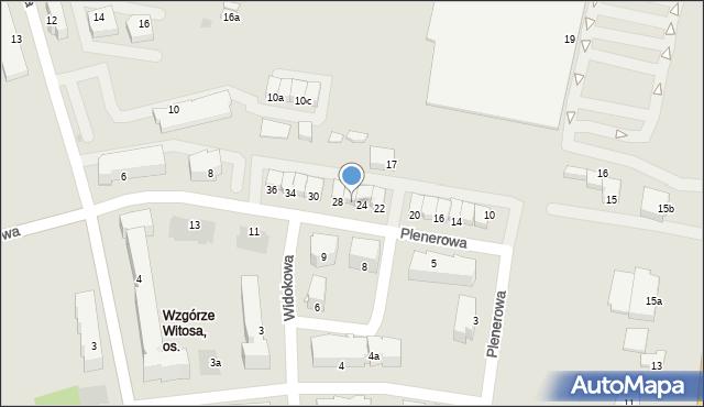 Rzeszów, Plenerowa, 26, mapa Rzeszów