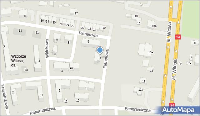 Rzeszów, Plenerowa, 3, mapa Rzeszów