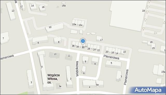 Rzeszów, Plenerowa, 30, mapa Rzeszów