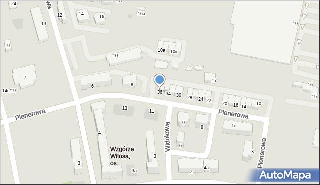 Rzeszów, Plenerowa, 36, mapa Rzeszów