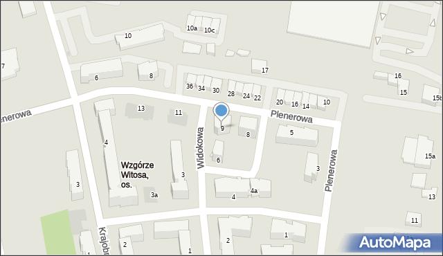 Rzeszów, Plenerowa, 9, mapa Rzeszów