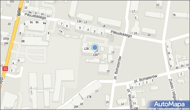 Słubice, Plac Bohaterów, 12A, mapa Słubice