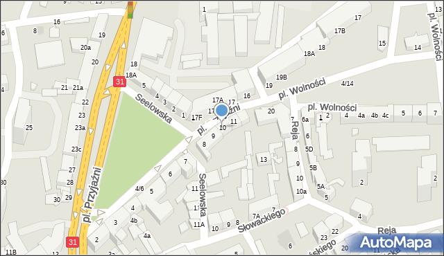 Słubice, Plac Przyjaźni, 10, mapa Słubice