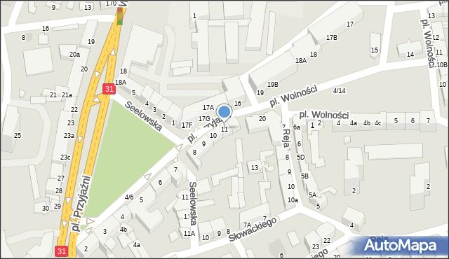 Słubice, Plac Przyjaźni, 11, mapa Słubice