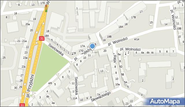 Słubice, Plac Przyjaźni, 12, mapa Słubice