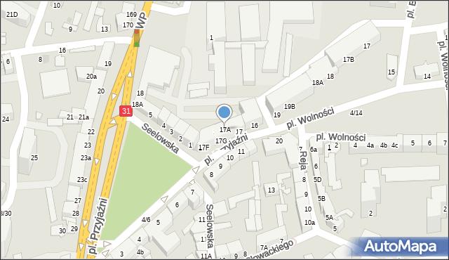 Słubice, Plac Przyjaźni, 17A, mapa Słubice