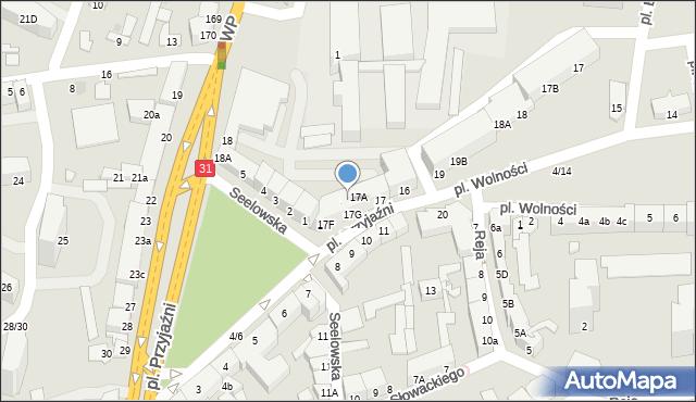 Słubice, Plac Przyjaźni, 17B, mapa Słubice