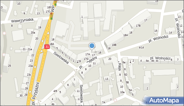 Słubice, Plac Przyjaźni, 17D, mapa Słubice