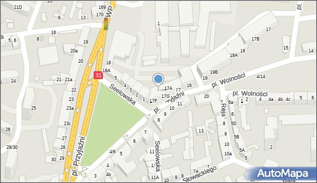 Słubice, Plac Przyjaźni, 17E, mapa Słubice