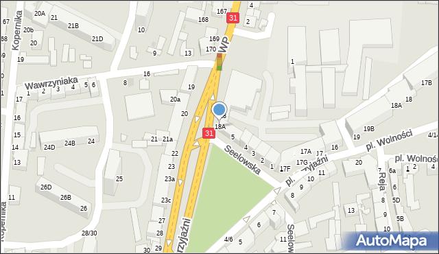 Słubice, Plac Przyjaźni, 18A, mapa Słubice