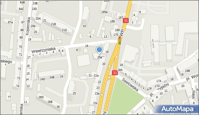 Słubice, Plac Przyjaźni, 20a, mapa Słubice