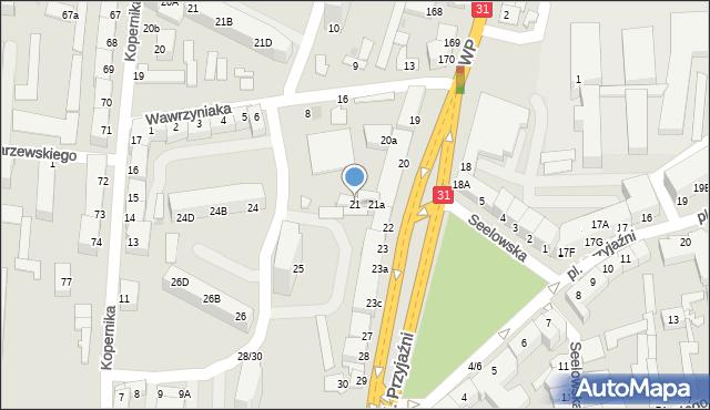 Słubice, Plac Przyjaźni, 21, mapa Słubice