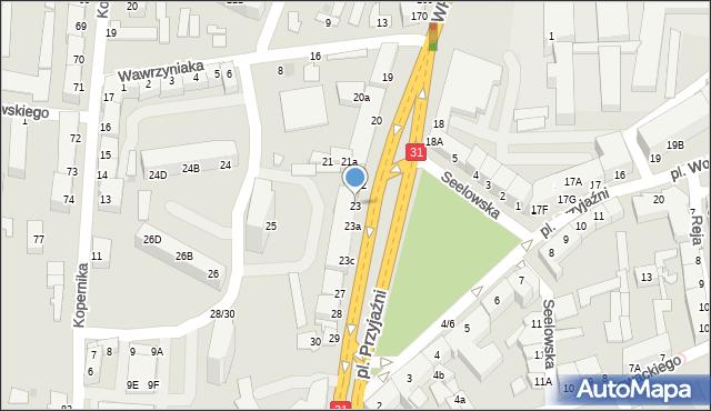 Słubice, Plac Przyjaźni, 23, mapa Słubice