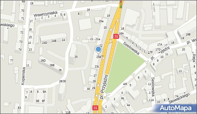 Słubice, Plac Przyjaźni, 23a, mapa Słubice