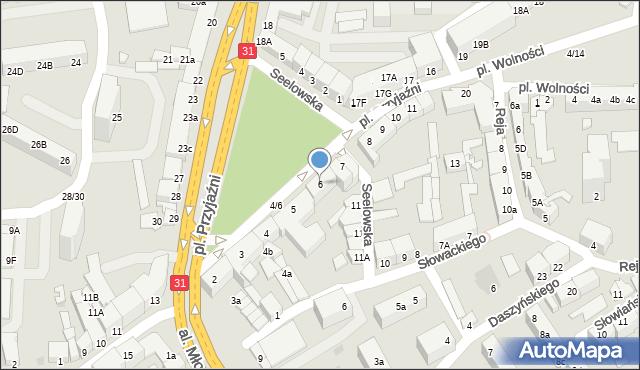 Słubice, Plac Przyjaźni, 6, mapa Słubice