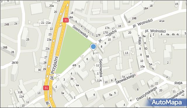 Słubice, Plac Przyjaźni, 7, mapa Słubice