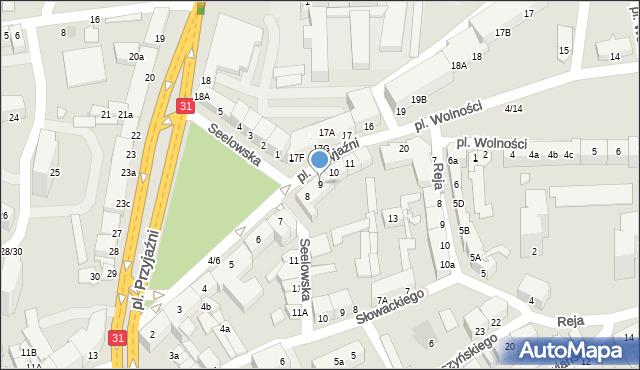 Słubice, Plac Przyjaźni, 9, mapa Słubice