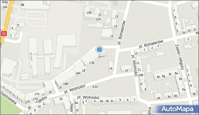 Słubice, Plac Wolności, 17, mapa Słubice