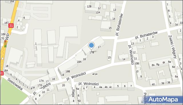 Słubice, Plac Wolności, 17B, mapa Słubice