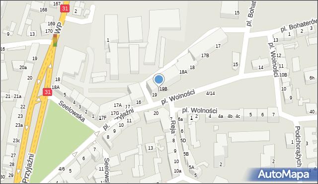 Słubice, Plac Wolności, 19A, mapa Słubice