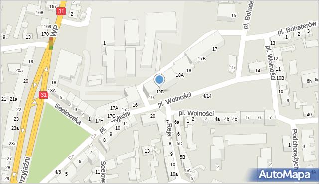 Słubice, Plac Wolności, 19B, mapa Słubice
