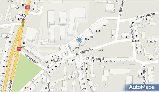 Słubice, Plac Wolności, 19C, mapa Słubice