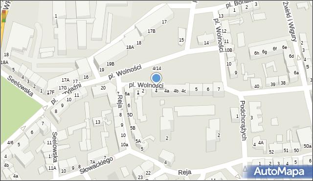 Słubice, Plac Wolności, 4, mapa Słubice